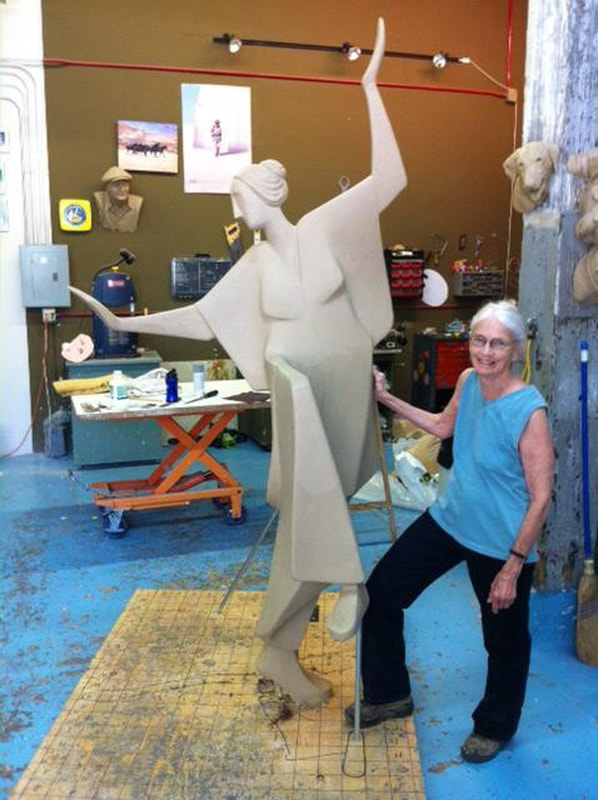 Carol Gold sculpting