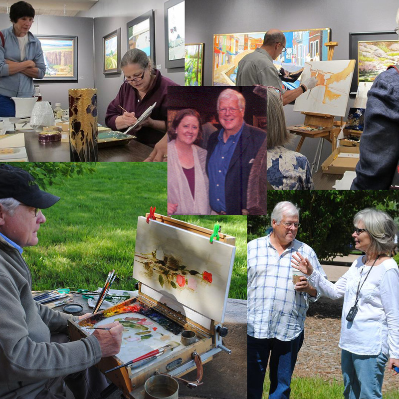 2015 events from the Colorado Governors' Art Show - Columbine Gallery directors and artists shown