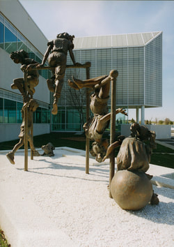 National Sculptors' Guild public art placement 35 Jane DeDecker's Bronze Jungle Gym Oxnard, California 1995 ​The National Sculptors' Guild placed Fellow Jane DeDecker's