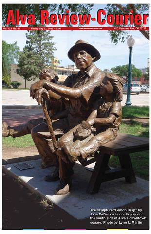 National Sculptors' Guild public art placement 446 Jane DeDecker Lemon Drops Alva Oklahoma