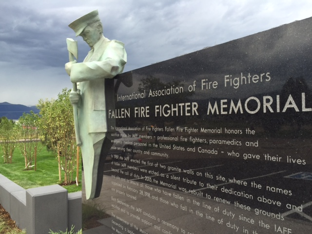 Guardians by Clay ENOCH, NATIONAL SCULPTORS' GUILD International Association of Fire Fighters Fallen Fire Fighter Memorial Colorado Springs IAFF