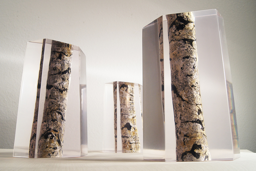 Aspen trunks by Christopher Owen Nelson, National Sculptors' Guild Colorado