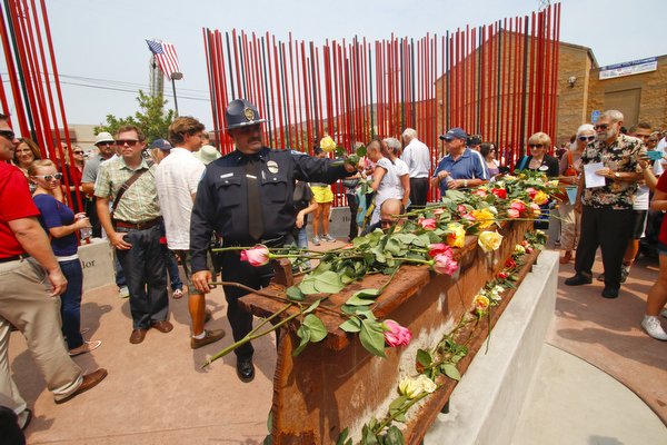 Kathleen Caricof's Standing Tall San Luis Obispo's World Trade Center Memorial dedication 9/11