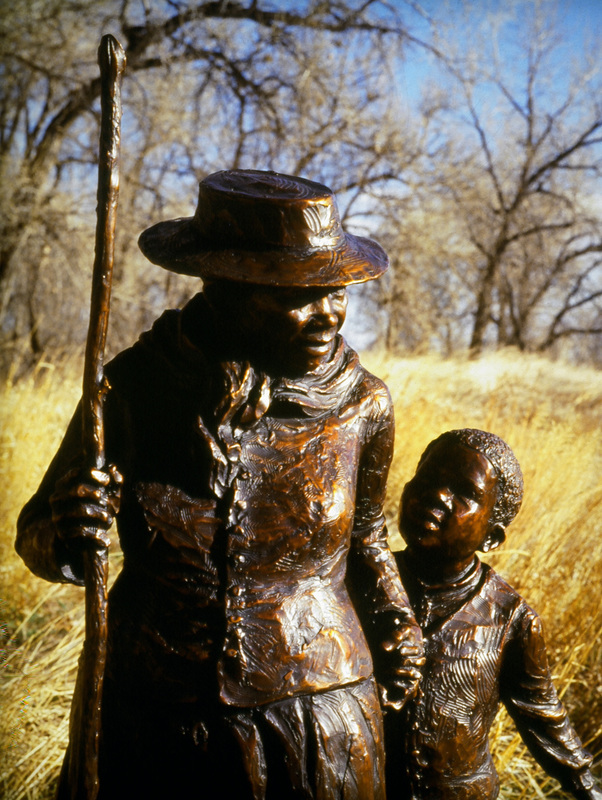 National Sculptors' Guild public art placement 33 Jane DeDecker's Harriet Tubman bronze Phoenix, AZ 1995