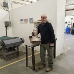Update 10/15/2018: The metal has been poured, time to put the pieces back together.   Pictured is artist Denny Haskew at Art Castings of Colorado where the bronze is being cast.  ​#ReachingOurGoal