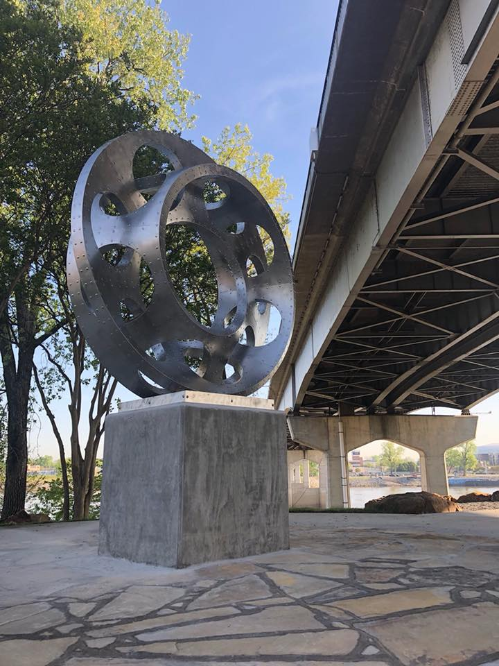 Interwoven placed in Little Rock, Arkansas in 2018. An intricate double mobius strip will be fabricated by Mark in Stainless Steel. Commission your next Public Art Project through the National Sculptors' Guild