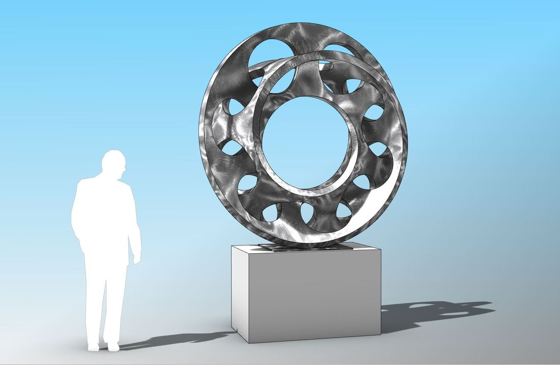 Mark Leichliter's Interwoven design will soon be actualized and placed in Little Rock, Arkansas in 2018. An intricate double mobius strip will be fabricated by Mark in Stainless Steel.