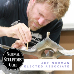 "​The National Sculptors 'Guild's board of directors nominated Joe Norman to move up from Affiliate to Associate within our organization. This passed with over two-thirds support by the current Fellows.  We have had amazing success from the start with Joe, placing public art in Texas, Georgia and California. The latest project was a 12-ft tall sculpture Homeward/Monarch for the City of Downey, CA. We have really enjoyed working with Joe, he always brings a creative twist to a call for art, and always with a smile.  With a background in engineering, design consulting and product design plus a degree from Stanford and a bit of Middle School teaching in the mix, Joe Norman approaches art from a different perspective than most artists, and that's the focus of the majority of his sculptures - the viewer's perspective. How you stand in the environment of the sculpture, dictates what you see. Adjust to another side, you see something else. This can be a girl who transforms into a monarch butterfly, or words of opposing meaning living in the same space like 'peace' and 'chaos'. We hope you get the chance to interact with his art, it can change ones perspective on their place in nature.  ""My intent is to make art that contributes to a wider conversation about justice and care and our impact on the world. I hope it helps people think and be happy; I hope it helps people be important to each other."