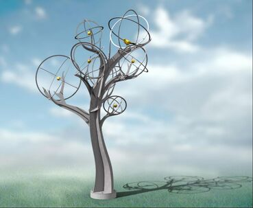 12/20/2019: We have the official go ahead on Mockingbird/Orange Tree by Michael Warrick and the National Sculptors' Guild. We're excited to see this sculpture placed at The Groves in Whittier, California this spring. It's a fast tracked project so keep an eye open for updates.  ​The Mockingbird Tree celebrates the tree as a natural resource. To tie into citrus grove history of the site, the limbs' seven spheres will contain six cast bronze oranges and one Mockingbird finished in 23-karat gold leaf. The surface of the stainless steel will have a brushed finish. Measuring 18' x 12' x 7', the stainless steel tree form holds a strong, universally appealing visual presence. • Composed from contemporary materials that are consistent with permanent public art • Thoughtfully integrates the sculpture into the environment of